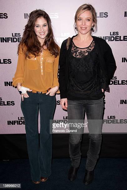 Melanie Bernier and Marie Guillard attend 'Les Infideles' Paris premiere at Cinema UGC Normandie on February 14, 2012 in Paris, France.
