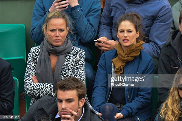 Melanie Bernier and Marie Guillard sightings At French Open 2013 at Roland Garros on May 30 2013 in Paris France