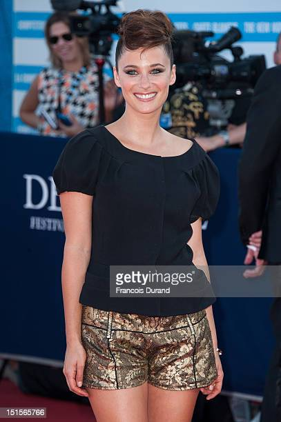 Melanie Bernier arrives at the closing ceremony of the 38th Deauville American Film Festival on September 8 2012 in Deauville France