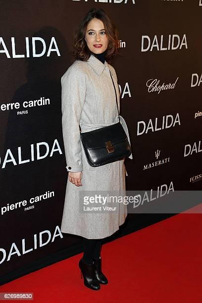 Melanie Bernier attends 'Dalida' Paris Premiere at L'Olympia on November 30 2016 in Paris France