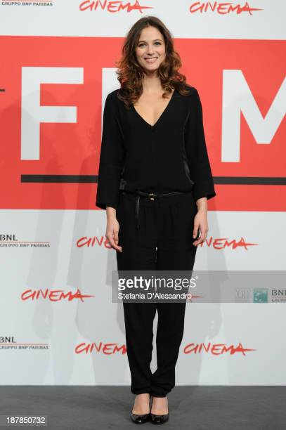 Melanie Bernier attends the 'Au Bonheur Des Ogres' Photocall during the 8th Rome Film Festival at the Auditorium Parco Della Musica on November 13...