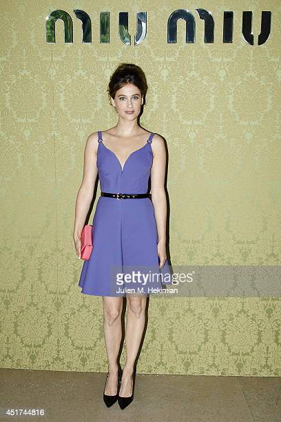 Melanie Bernier attends the Miu Miu Resort Collection 2015 at Palais d'Iena on July 5 2014 in Paris France