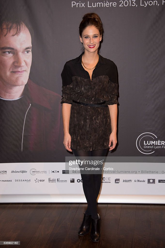 Melanie Bernier attends the Tribute to Quentin Tarantino, during the 5th Lumiere Film Festival, in Lyon.