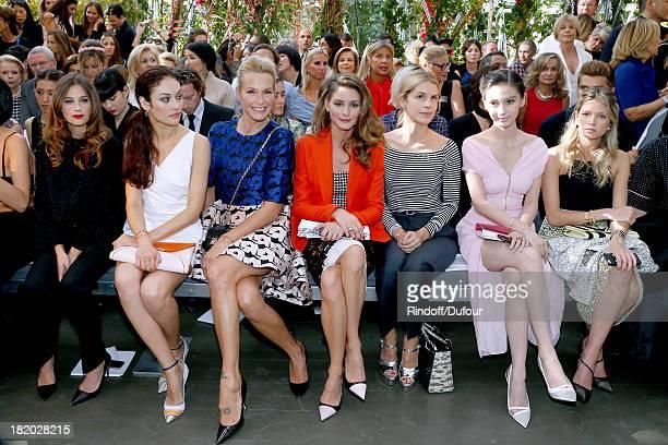 Melanie Bernier Olga Kurylenko Estelle Lefebure Olivia Palermo Victoria Niarchos Ni Ni and Guest attend the Christian Dior show as part of the Paris...