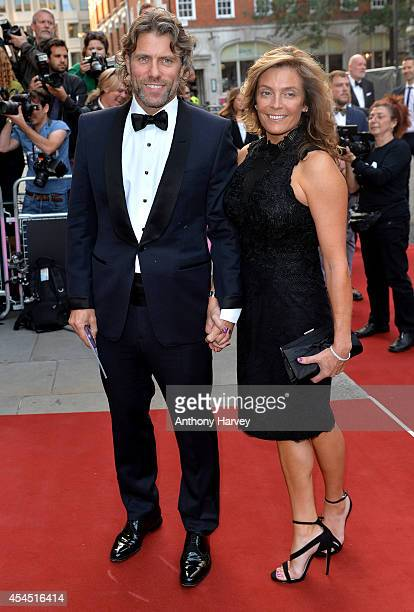 Melanie Bishop and John Bishop attend the GQ Men of the Year awards at The Royal Opera House on September 2 2014 in London England