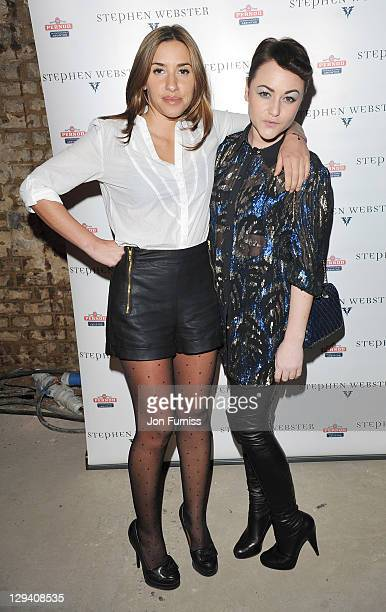 Melanie Blatt and Jaime Winstone attend the launch of Stephen Webster's jewellery collections 'The 7 Deadly Sins' and 'No Regrets' at Old Vic Tunnels...