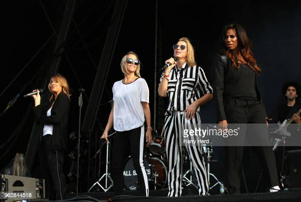 Melanie Blatt and Nicole Appleton and Natalie Appleton and Shaznay Lewis of All Saints perform at Southampton Common on May 26 2018 in Southampton...