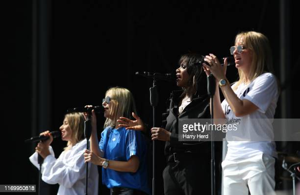 Melanie Blatt and Nicole Appleton and Shaznay Lewis and Natalie Appleton of the All Saints perform on stage during Victorious Festival 2019 at...