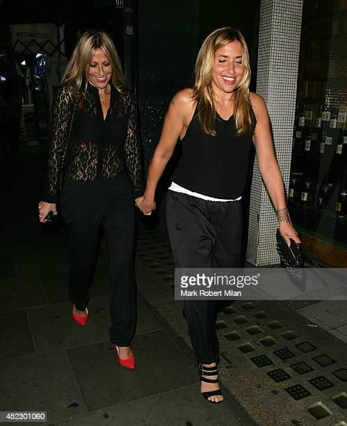 Melanie Blatt and Nicole Appleton at the Groucho club on July 17 2014 in London England