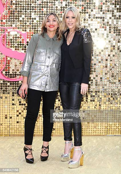 Melanie Blatt and Nicole Appleton attend the World Premiere of 'Absolutely Fabulous The Movie' at Odeon Leicester Square on June 29 2016 in London...