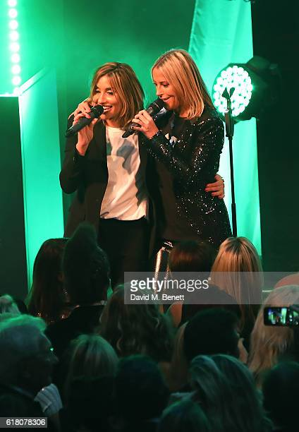 Melanie Blatt and Nicole Appleton from All Saints attend 'An Evening With The Stars' charity gala in aid of Save The Children at The Grosvenor House...