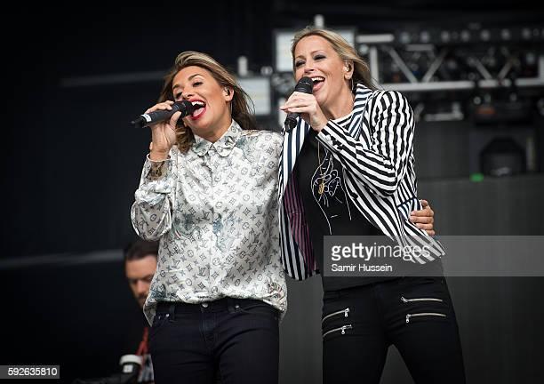 Melanie Blatt and Nicole Appleton perform at V Festival at Hylands Park on August 21 2016 in Chelmsford England