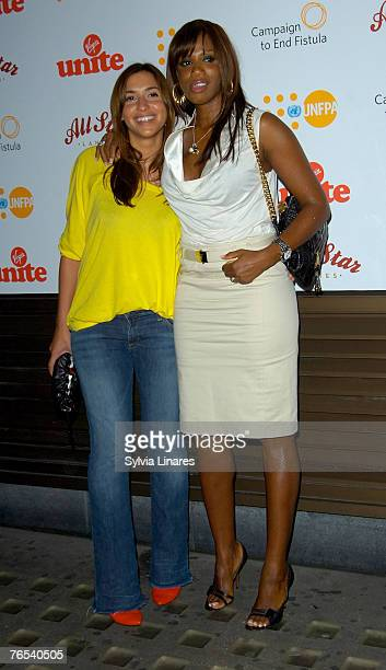 Melanie Blatt and Shaznay Lewis at the Virgin Unite Campaign to End Fistula Celebrity Bowl Off September 5, 2007 at All Star Lanes in London, England.