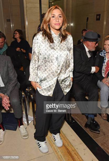Melanie Blatt attends the Pam Hogg front row during London Fashion Week September 2018 at The Freemason's Hall on September 14 2018 in London England