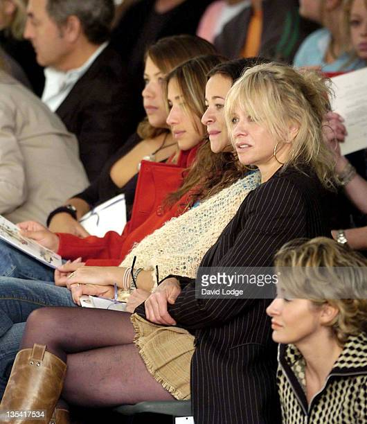 Melanie Blatt Leah Wood and Jo Wood during London Fashion Week Spring 2005 Betty Jackson Front Row at BFC Tent London in London Great Britain