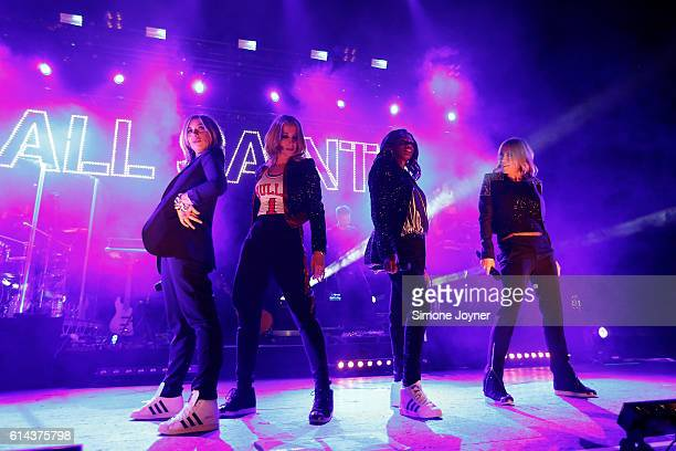 Melanie Blatt Natalie Appleton Shaznay Lewis and Nicole Appleton of All Saints perform live on stage at O2 Academy Brixton on October 13 2016 in...