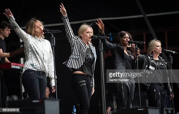 Melanie Blatt Nicole Appleton Shaznay Lewis and Natalie Appleton perform at V Festival at Hylands Park on August 21 2016 in Chelmsford England