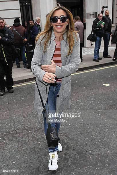 Melanie Blatt of All Saints seen at BBC Radio 2 on April 11 2014 in London England