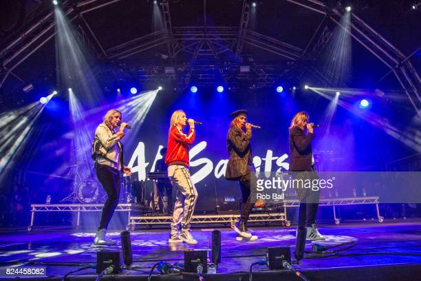 Melanie Blatt Shaznay Lewis Nicole Appleton and Natalie Appleton from All Saints perform during Camp Bestivalat Lulworth Castle on July 28 2017 in...
