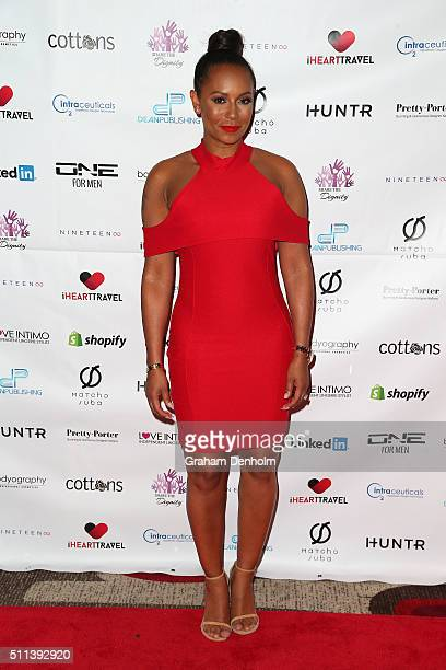 Melanie Brown aka Mel B arrives ahead of the Casino Royale Gala Dinner on February 20 2016 in Melbourne Australia