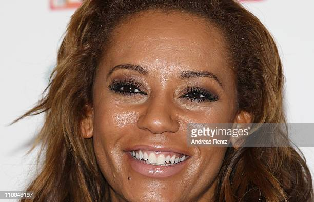 Melanie Brown aka Mel B attends a photocall to launch her fitness DVD 'Totally Fit' at Park Plaza on March 14 2011 in Berlin Germany