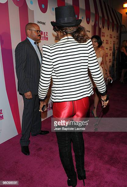 Melanie Brown aka Mel B attends Perez Hilton's 'CarnEvil' Theatrical Freak and Funk 32nd birthday party at Paramount Studios on March 27 2010 in Los...