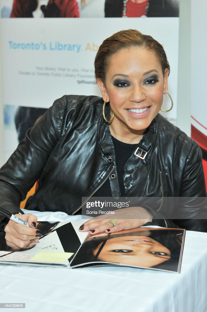 Melanie Brown aka Mel B attends the fan screening event for 'The Twelve Days of Christmas' on December 7, 2013 in Toronto, Canada.