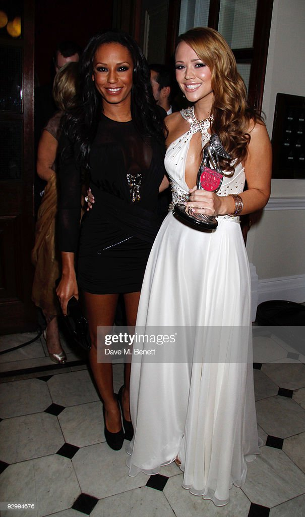 Melanie Brown and Kimberley Walsh with the Ultimate Woman's Woman Award attends the Cosmopolitan Ultimate Women Of The Year Awards, at the Banqueting House on November 11, 2009 in London, England.