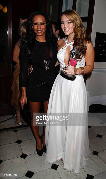 Melanie Brown and Kimberley Walsh with the Ultimate Woman's Woman Award attends the Cosmopolitan Ultimate Women Of The Year Awards at the Banqueting...