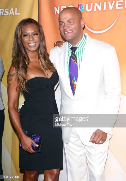 Melanie Brown and Stephen Belafonte arrive to the NBC Universal Press Tour AllStar Party held at The Beverly Hilton hotel on July 30 2010 in Beverly...