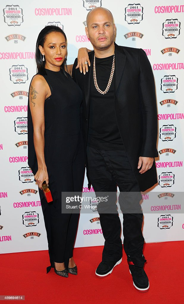Melanie Brown and Stephen Belafonte attend the Cosmopolitan Ultimate Women of the Year Awards at One Mayfair on December 3, 2014 in London, England.