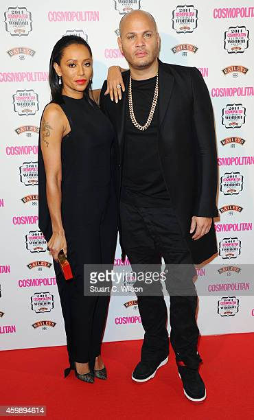 Melanie Brown and Stephen Belafonte attend the Cosmopolitan Ultimate Women of the Year Awards at One Mayfair on December 3 2014 in London England