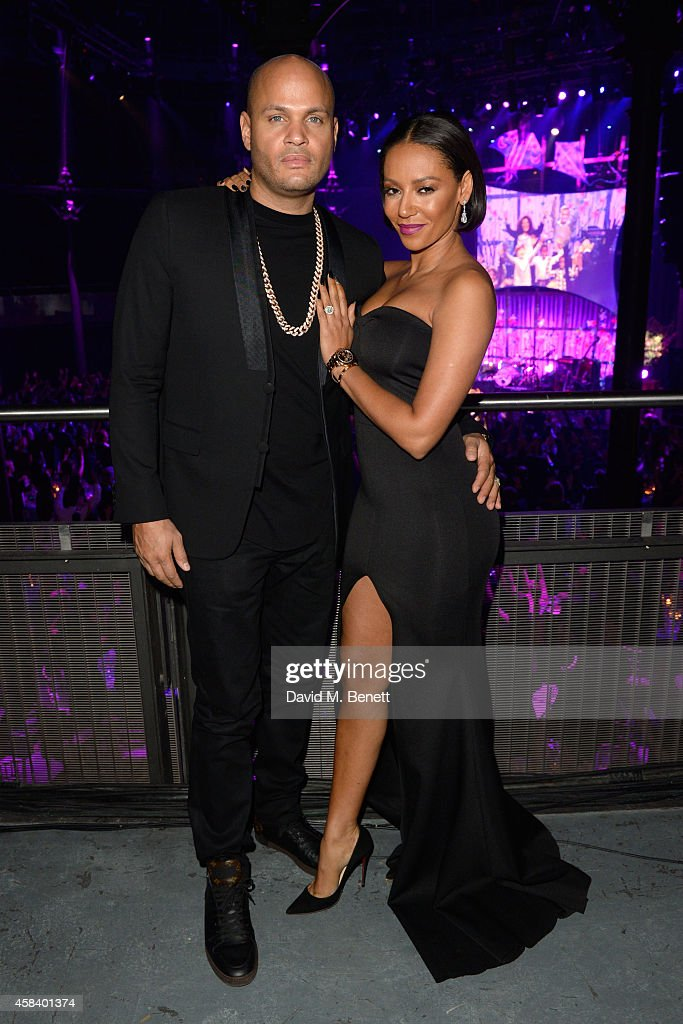 Melanie Brown and Stephen Belafonte attend the second annual SeriousFun Network Gala at at The Roundhouse on November 4, 2014 in London, England.