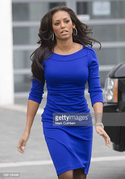 Melanie Brown Arrives At A Ceremony To Make A Print Of Her Hands At The Walk Of Fame At Wembley In London.