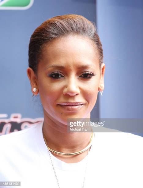 Melanie Brown arrives at 'America's Got Talent' Party held at Dolby Theatre on April 22 2014 in Hollywood California