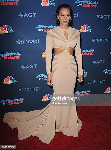 Melanie Brown arrives at 'America's Got Talent' Season 11 Finale Live Show at Dolby Theatre on September 13 2016 in Hollywood California