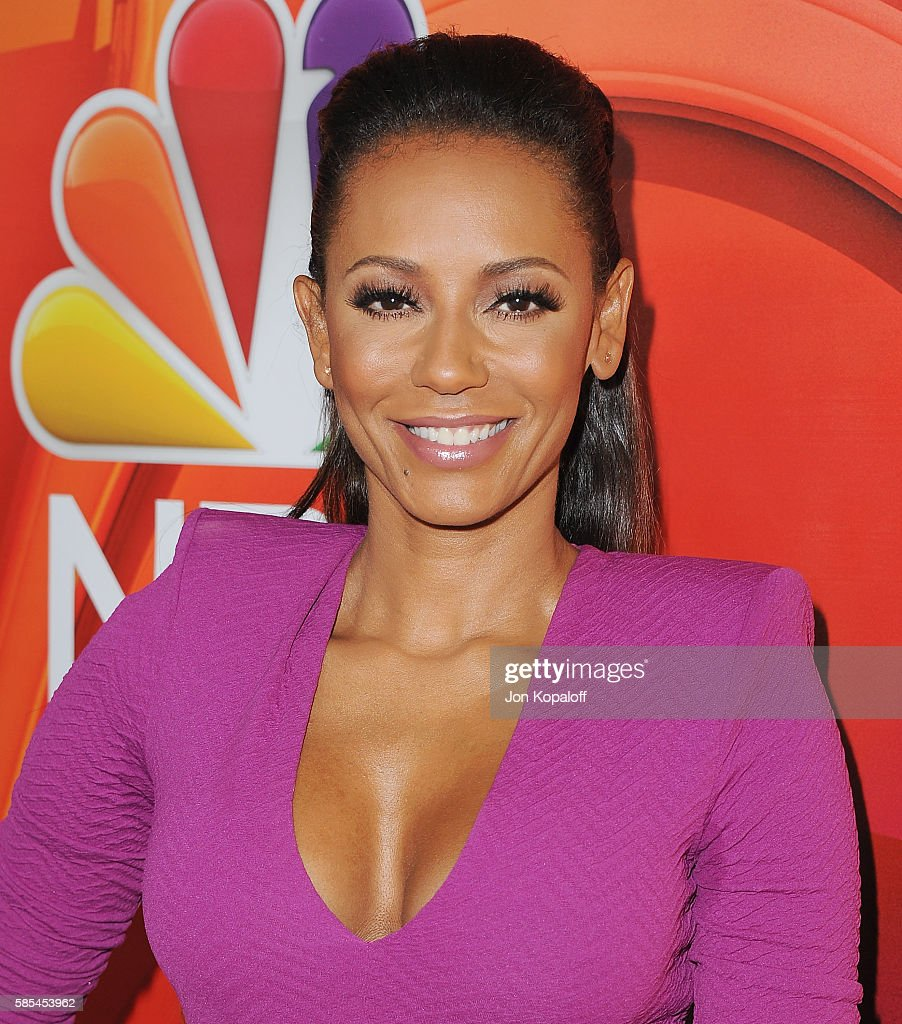 Melanie Brown arrives at the 2016 Summer TCA Tour - NBCUniversal Press Tour Day 1 at The Beverly Hilton Hotel on August 2, 2016 in Beverly Hills, California.