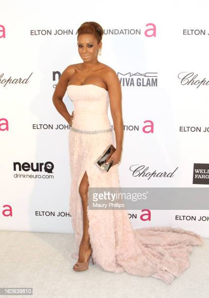 Melanie Brown arrives at the 21st Annual Elton John AIDS Foundation Academy Awards Viewing Party at Pacific Design Center on February 24 2013 in West...