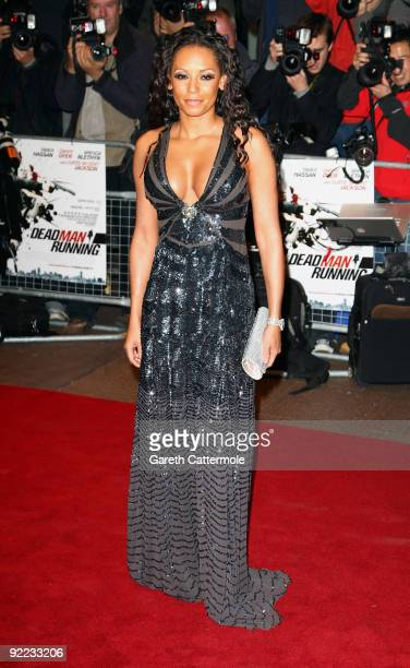 Melanie Brown arrives at the 'Dead Man Running' UK Film Premiere at Odeon West End on October 22, 2009 in London, England.