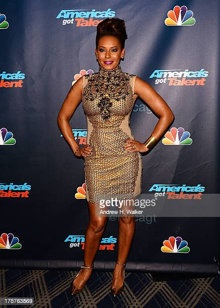 """Melanie Brown attends """"America's Got Talent"""" Season 8 Red Carpet Event at Radio City Music Hall on August 7, 2013 in New York City."""