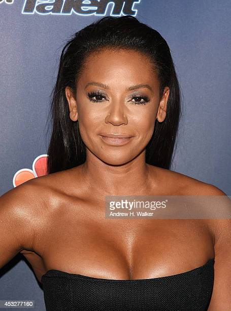 Melanie Brown attends 'America's Got Talent' season 9 post show red carpet event at Radio City Music Hall on August 6 2014 in New York City