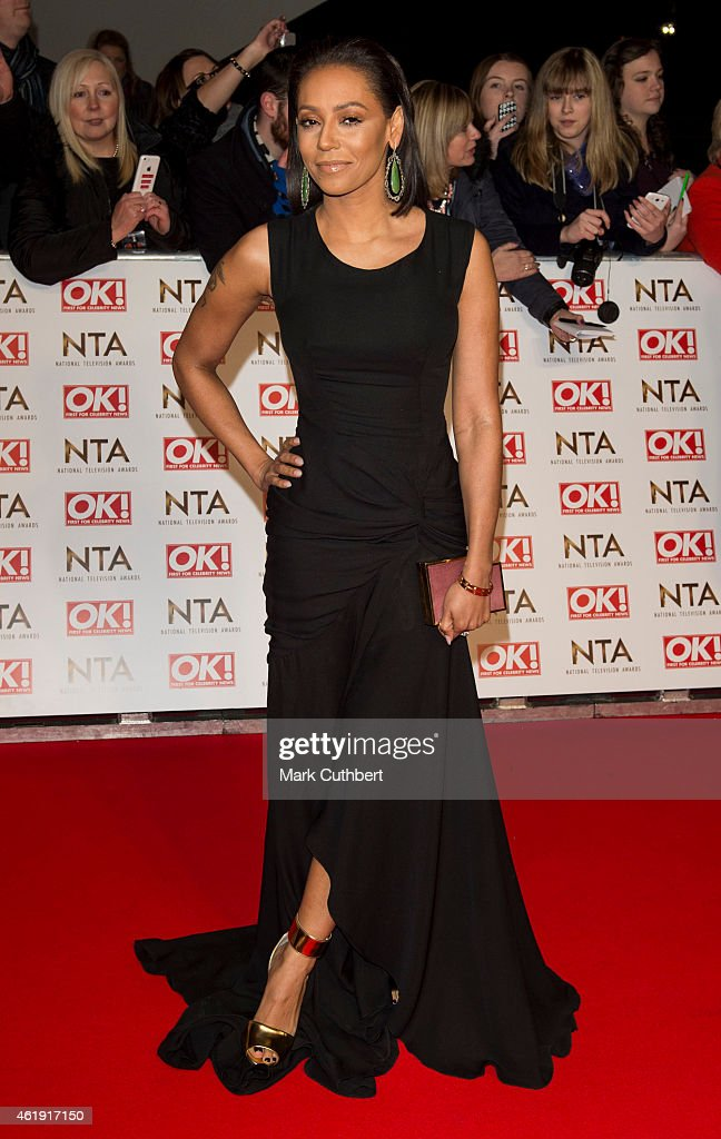Melanie Brown attends the National Television Awards at 02 Arena on January 21, 2015 in London, England.