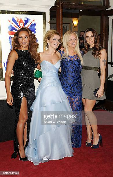 Melanie Brown, Emma Bunton, Geri Halliwell and Melanie Chisholm attend the press night of 'Viva Forever', a musical based on the music of The Spice...
