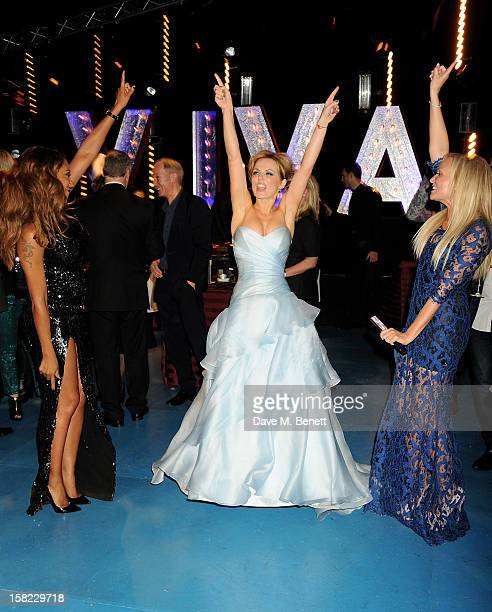 Melanie Brown Geri Halliwell and Emma Bunton attend an after party celebrating the Gala Press Night performance of 'Viva Forever' at Victoria...