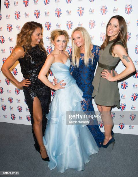 Melanie Brown, Geri Halliwell, Emma Bunton, and Melanie Chisholm attend the after party of 'Viva Forever', a musical based on the music of The Spice...