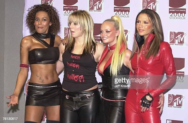 Melanie Brown Melanie Chishoml Emma Bunton and Victoria Beckham of the Spice Girls