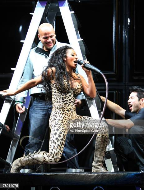 Melanie Brown of Spice Girls performs during rehearsal for The Return of Spice Girls World Tour at GM Place on December 1 2007 in Vancouver Canada