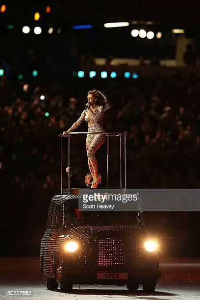 Melanie Brown of Spice Girls performs during the Closing Ceremony on Day 16 of the London 2012 Olympic Games at Olympic Stadium on August 12 2012 in...