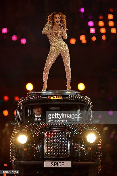 Melanie Brown of the Spice Girls performs during the Closing Ceremony on Day 16 of the London 2012 Olympic Games at Olympic Stadium on August 12 2012...