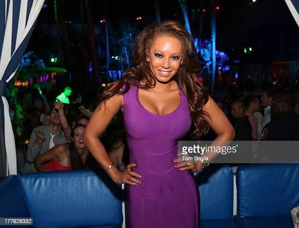 Melanie Brown visits The Pool After Dark at Harrah's Resort on Saturday August 24 2013 in Atlantic City New Jersey